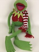 The Muppets Kermit The Frog Plush Stuffed 24 Christmas Scarf Eden Vintage Macy