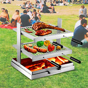 Vevor Tuscan Fireplace Grill Santa Maria Adjustable Campfire With Fire Pan