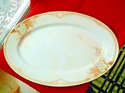 Antique Homer Laughlin Louis Xvi Serving Platter Tray 1890th 20.5 One Of A Kind