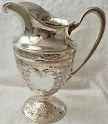 Antique 3 1/2 Pint Water Pitcher Sterling Silver Je Coldwell 28.5oz 808gr H 26cm
