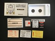 Nintendo Game And Watch Oil Panic Op-51 With Box Tray And Manual Cleaned And Working