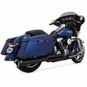Vance And Hines Pro Pipe Black Exhaust System Harley, 2017-2021, Flhxs, Flhti