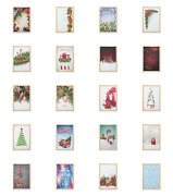 Ambesonne Christmas Tree Wall Art With Frame For Bathrooms Living Room Dorms