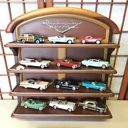 Classic Cars Of The Fifties Franklin Mint 50's Model Display Shelf And Book Set