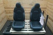 Set Of 2 Front Left Right Seat Black Leather Audi R8 Spyder Convertible 2011-13