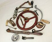 15-piece Collection Of Antique Handles Levers And Cranks Industrial Farm Tools B