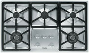 Miele Km3474gss 36 Inch Stainless Steel Gas Cooktop With 5 Sealed Burners