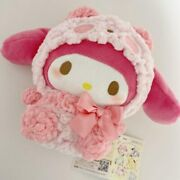 Sanrio Characters My Melody Fluffy Panda Plush Doll Stuffed Toy 17cm From Japan