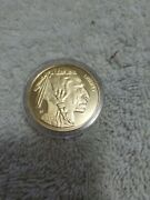 Copy 2012 U.s. 50 Buffalo Gold Coin Indian Head Coin 24-kt Plated