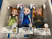 Disney Store Frozen 16 Doll Lot Elsa Anna And Kristoff Animations Collection Nib