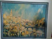Jack Laycox Sunny Spain Print Collectible Painting 43x34 Approx