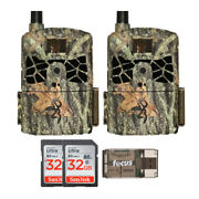 Browning Defender Pro Scout Cellular Trail Camera 2-pack W/ Sd Cards Bundle
