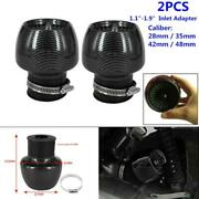 Carbon Fiber Motorcycle Straight Pipe Air Intake Filter 1.1-1.9 Adapter 28-48mm