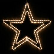Christmas Light Display Led Rope Light Warm White Double Star Outdoor Hanging