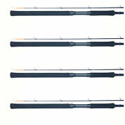Set Of 4 Bnm Pro Staff Trolling Rods Crappie Fishing Pole 8and039 Pst082n Bandm