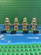Lego Star Wars 75035 Lot Of 4 41st Corp Kashyyyk Clone Troopers From Battle Pack