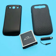 7570mah Extended Battery Black Cover Case For Samsung Galaxy S3 T999 I9300 Phone