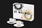 Illy Art Collection 2021 -ai Weiwei - 2 Espresso Cups/saucers - Nib, Rare