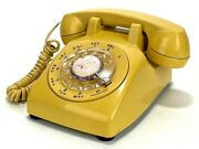 Vintage Yellow Western Electric 500 Rotary Desk Phone - 5-71