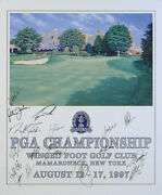 Tiger Woods - Autographed Signed Poster Circa 1997 With Co-signers
