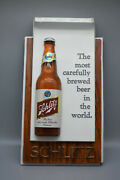 Vintage 1960and039s Schlitz Beer Bottle 3-d Wall Promo Sign- 14 X 8 Preowned