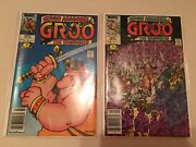 Groo The Wanderer 1 And 3 Marvel 1985 Newsstand Edition Both Nm