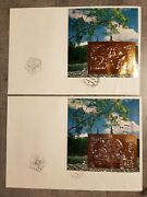 Mongolia 1993 Nat.stamp. Exibition Topex 93 Wisconsin U.s.a 2 Fdc Blocks G+sil
