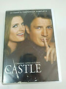 Castle Fourth Season 4 Complete Series Tv - 6 X Dvd Spanish English French 5t