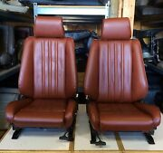 Bmw E30 325/318 New Cardinal Red Front Seats Pair For Is And I 1982-91 1500.00