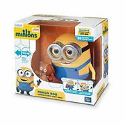 Minions Minion Bob Interacts With Teddy Bear 8 Inches Deluxe Talking Figure