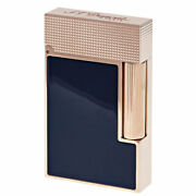 S.t. Dupont Line 2 Perfect Cling Lighter Pink Gold And Blue Lacquer - C16604