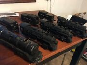 Vintage O Scale Train Lot. Marx. Lionel. Etc. 4 Engines. 3 Cars. Look