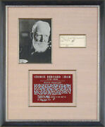 George Bernard Shaw - Autograph Note Signed 06/19/1917