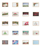 Ambesonne Christmas Tree Wall Art With Wide Frame For Bathrooms Living Room