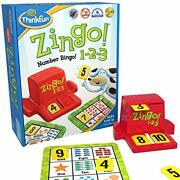 Think Fun Zingo 1-2-3 Number Bingo Game For Age 4 And Up - Award Winner And Toy