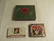 Cigar And Cigarette Tins Lucky Strike Chesterfield Grandee Sunset Club Vintage