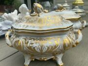 Co Le Tallec Private Stock Stunning Lidded Tureen French Porcelain Cameo