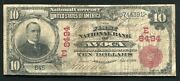 1902 10 The First National Bank Of Avoca Pa National Currency Ch.8494 Unique