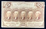 1862 Us Postage Stamps Note 99 25c Heads Of Jefferson Perf. 12