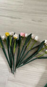 Wooden Hand Carved Flowers 13 Pastel Roses Leaves And Animals Elephant Flamingo