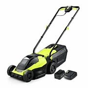 Cordless Lawn Mower 14 Inch Electric Lawn Mower With Brushless Motor 20v