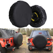 Spare Tire Cover For Jeep Wrangler 17inch Size Xl Wheel Tire Cover Pure Black