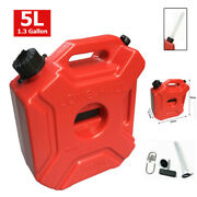 5l Portable Gasoline Gas Fuel Tank For Atv Car Motorcycle Outboard Cans
