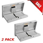 2-pack Baby Restroom Changing Station Table Wall Mount Gray Commercial Bathroom