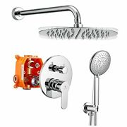 Shower System,chrome Shower Faucet Sets,12'' Stainless 12 Inch Polish Chrome