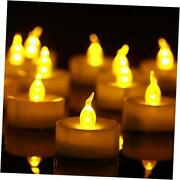 Tea Lightsflameless Led Tealight Candles,realistic Flickering Warm 50 Pack