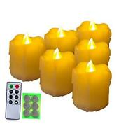 400+ Hours 6 Pack Flameless Led Votive Candles Amber Yellow6 Extra Batteries
