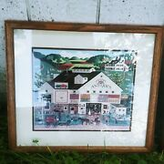 Charles Wysocki Country Antique Store Print Framed And Matted Farm House Art