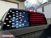 American Flag Rear Window Perforated Graphic Decal Tint Sticker Car Truck Suv 5