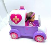 Disney Doc Mcstuffins Doll And Ambulance With Accessories And Dragon Toys